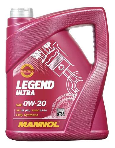 Imagen 1 de 6 de Aceite Mannol Legend Ultra 0w20 4 Lts Sintético Aleman