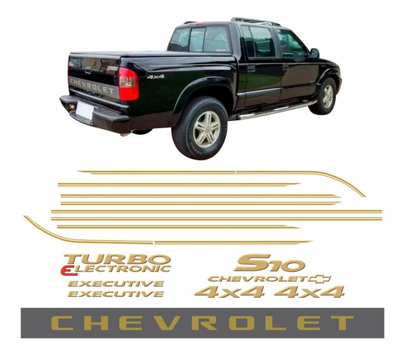 Adesivo Chevrolet S10 Executive Completo Ano 2006 2007 2008