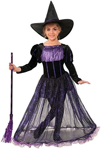 Traje De Niños De Purple Potion Witch Deluxe
