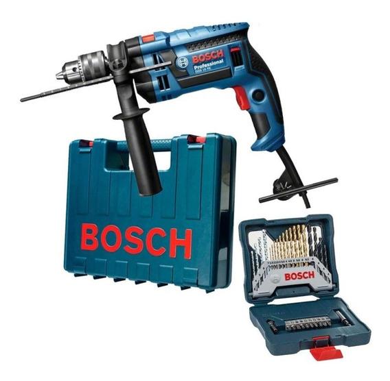 Furadeira Industrial 1/2 Gsb 16re 750w + Kit 30 Peças Bosch