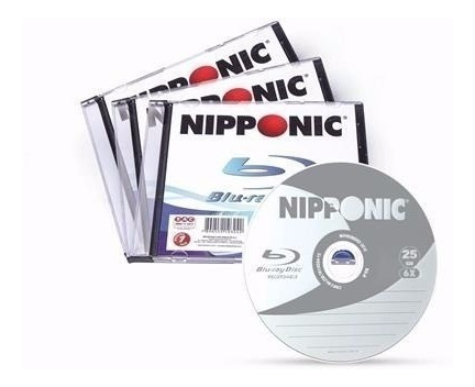 100 Bluray Bdr Nipponic 1x-6x 25gb Pc 50un