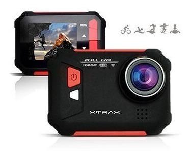 Câmera De Ação Xtrax Evo Full Hd, Wi-fi, 12mp E Display Inte