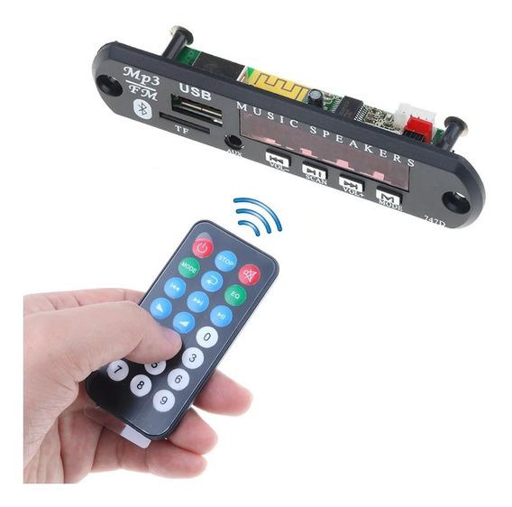 Modulo Reproductor De Audio Stereo Bluetooth Usb Sd Auxiliar