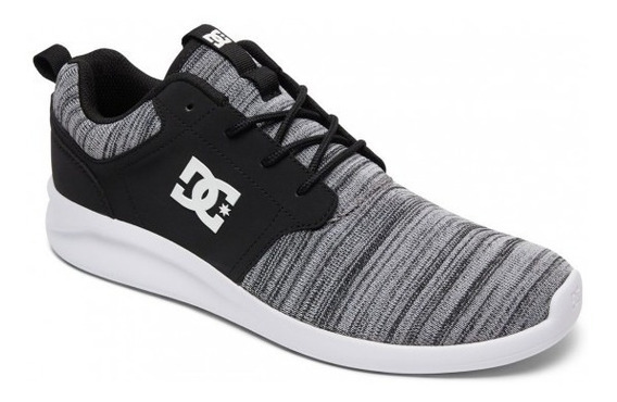 Zapatillas Dc Shoes Modelo Midway Negro Gris! Coleccion 19