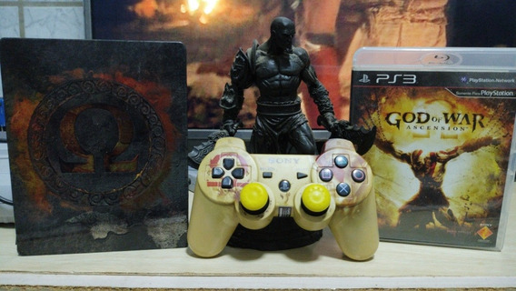 Coleção God Of War Ps3 Completa + Estatueta + Controle