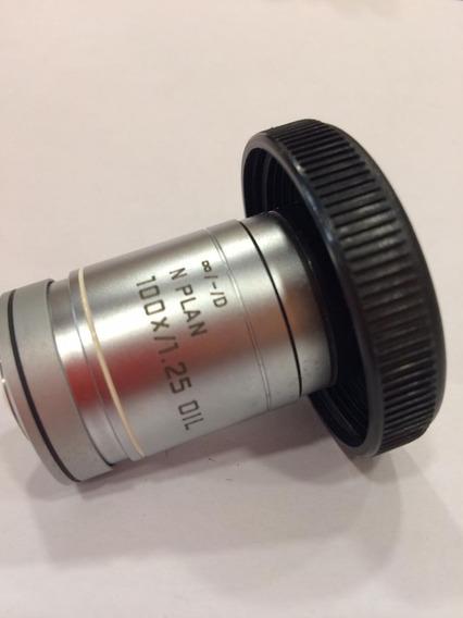 Objetiva N-plan 100/1,25 (ref. 506158) Marca Leica -alemanha