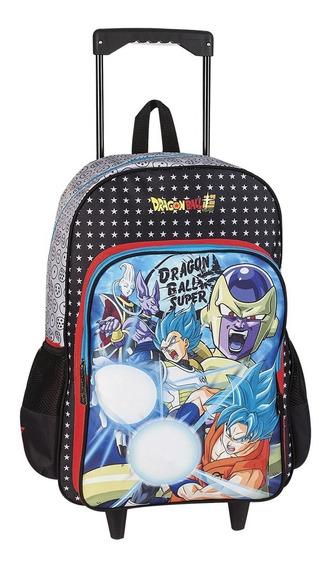 Mochila Escolar Con Carro Dragon Ball Z 18° Original Oferta