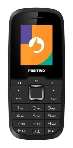 Imagem 1 de 3 de Positivo P26 Dual SIM 32 MB preto 32 MB RAM