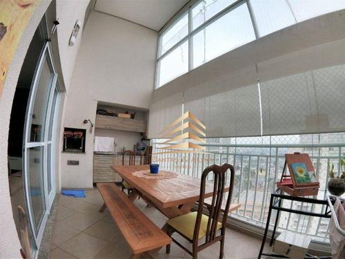 Imagem 1 de 19 de Cobertura Com 3 Dormitórios 3 Suites  À Venda, 168 M² Por R$ 950.000 - Vila Leonor - Guarulhos/sp - Co0021