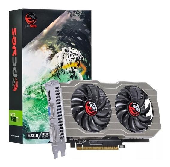 Placa De Vídeo Geforce Gtx 750ti Dualfan 2g Gddr5 128b