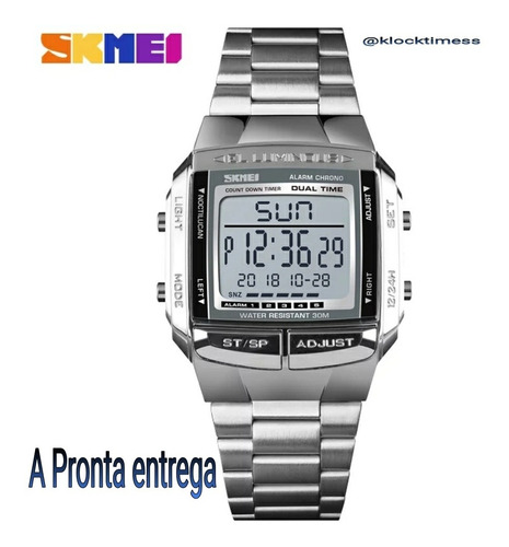 Relógio Skmei Masculino Aço Inoxidável Relógio Original