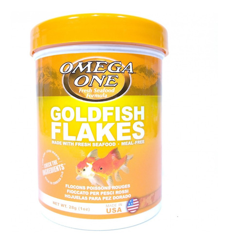 Goldfish Flakes 28gr Omega One Para Peces De Agua Fria