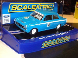 Scalextric Slot Car 1/32 Ford Cortina Racing Car #16