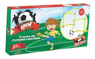 Trave Chute A Gol Com 02 Traves 02 Redes E 01 Bola De Vinil