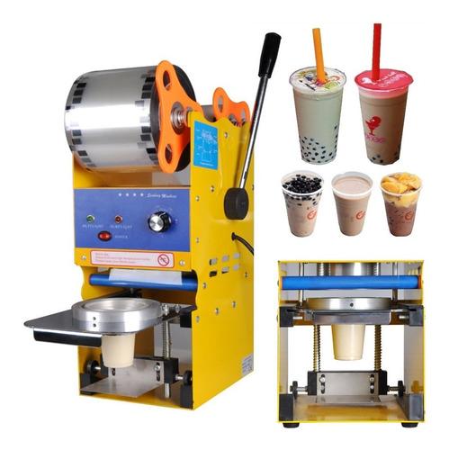 Maquina Selladora Vasos Semi Automática Jugos Cafe Helado