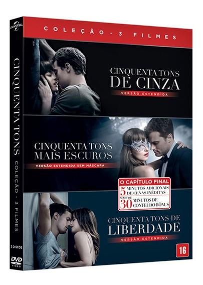 Coleção Dvd - 50 Cinquenta Tons (3 Dvds) - Original Lacrado