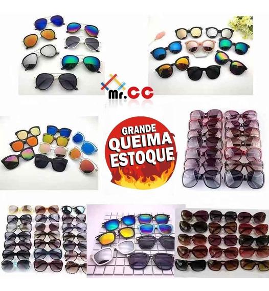 Kit 50 Óculos De Sol Adulto Proteção Uv Para Atacado/revenda