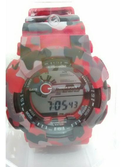 Relógio Camuflado Militar Exercito Vermelho Anti Shock