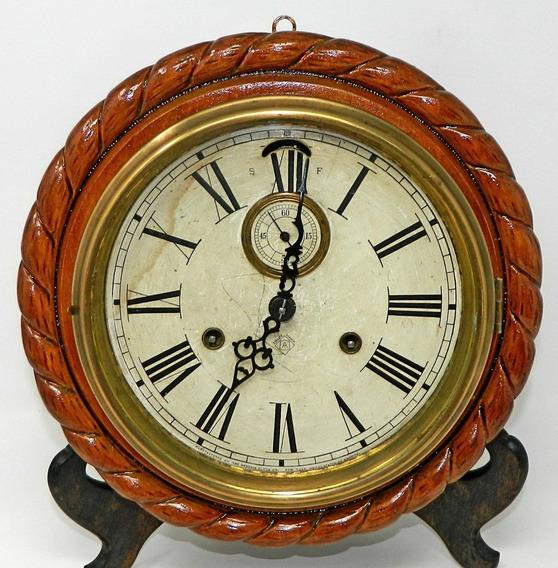 Antiguo Reloj Ansonia Americano Pared Funciona