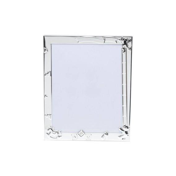 Porta Retrato De Aço Baby 10cmx15cm Rojemac Prata Cewt
