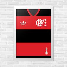 Porta Retrato Parede A4 Flamengo Libertadores 81 18674d7b412bf