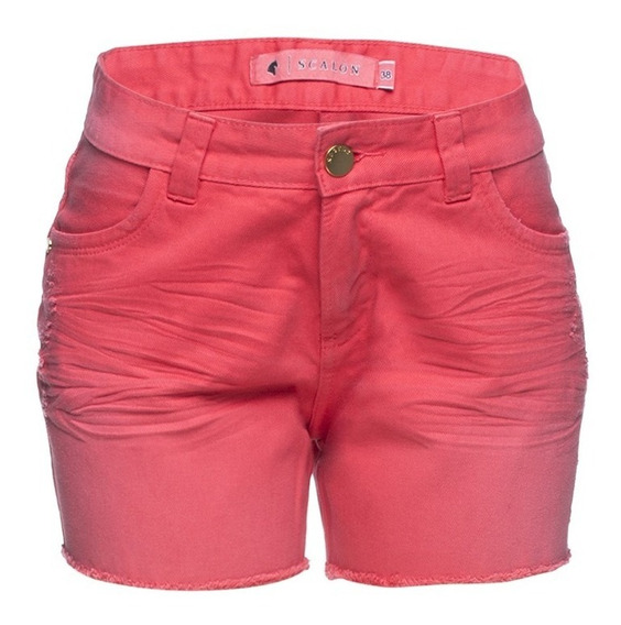 Shorts Feminino Jeans Boyfriend Desfiado Verde Scalon Irina 253006