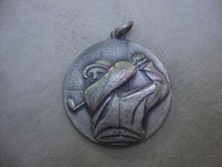 Medalla Jugador Golf En Metal Relieve 3,6 Diam X 2,5mm