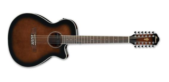 Ibanez Aeg1812 2 Guitarra Electro Acustica 1/2 Caja 12 Cuerd