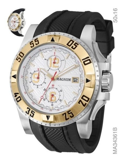 Relógio Masculino Analógico Magnum Ma34361b - Preto