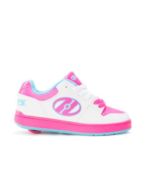 Tenis Patín Heelys Para Niña Blanco Con Rosa Una Rueda