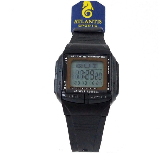 Relógio Atlantis 7189g Digital 30 Memorias Original Databank