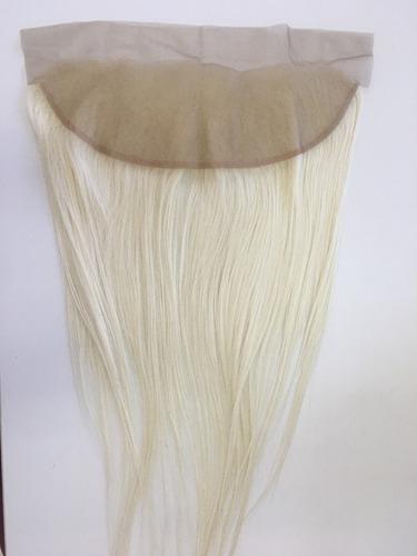 Prótese Capilar Sintético Orgânico Front Lace Clousure 50cm