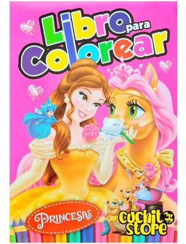 Libro Para Colorear Princesas 80 Paginas Libro Pintar