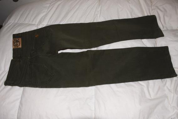Pantalon Volcom Gabardina Verde Militar Como Nuevo