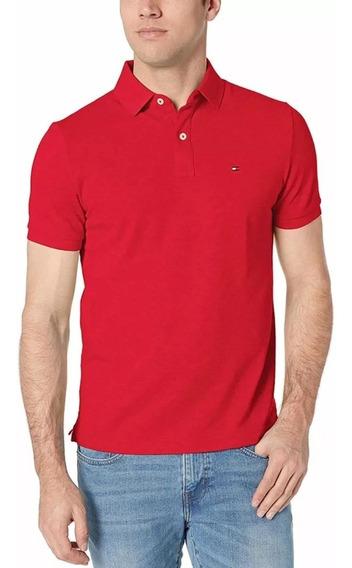 Playera Tommy Polo Roja Original Cómoda Moda Ralph Lauren