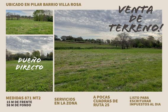 Venta De Terreno En Pilar Buenos Aires 871mt2 Inversion Casa