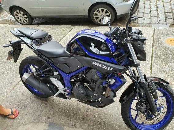 Yamaha Mt-03 Abs Muito Nova Preta E Azul 11mil Km Zerada