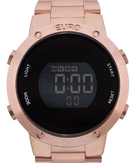 Relógio Euro Digital Feminino Eubj3279af/4j Rosê + Nf