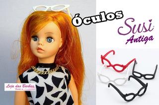Kit 4 Óculos De Grau P/ Boneca Susi Antiga Estrela Acessório