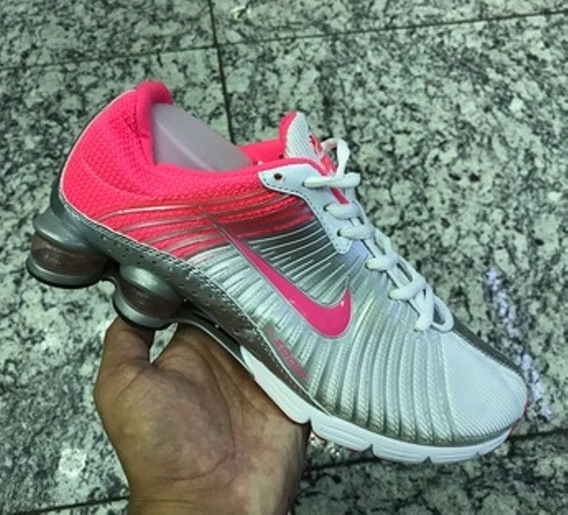 Tenis Nike Shox Zoom Prata E Rosa Nº38 Original Na Caixa