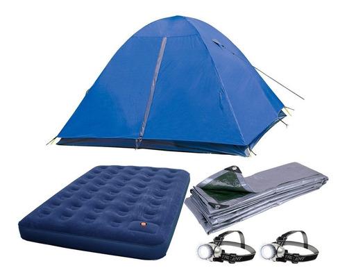 Imagen 1 de 7 de Combo Camping Carpa 4 Personas Colchon + Regalos
