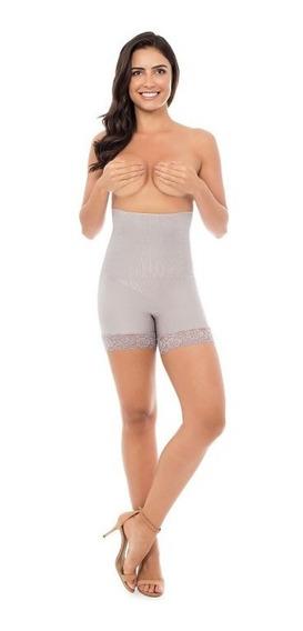 Shorts Modelador Cintura Alta Plie 60082 Boxer Lace Shades