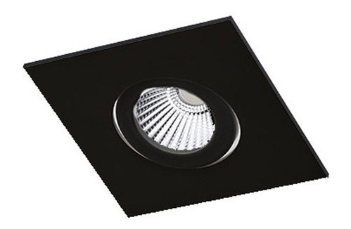 Embutido Quadrado Preto Mini Dicroica Biv Bella Luce 1012/1