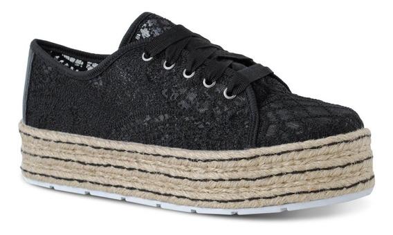 Tênis Feminino Prime Shoes Renda Preta