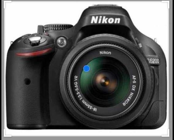 Camera Dslr Nikon D5200 Com Lente 18-55