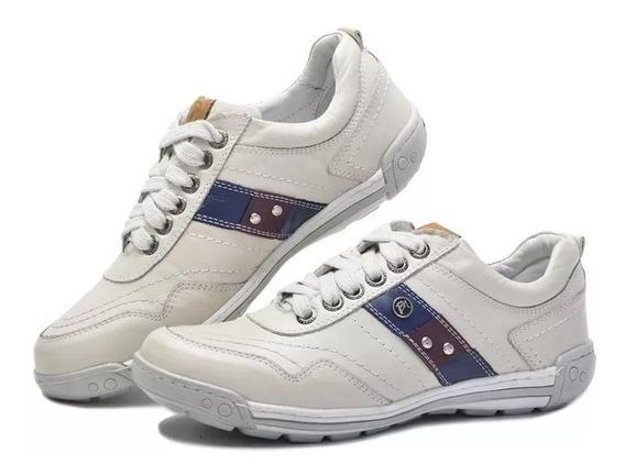 Sapatênis Sapato Casual Porshe Bmbrasil Couro Palmilha Gel