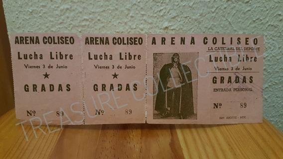 Boleto Lucha Libre Arena Coliseo; Años 50