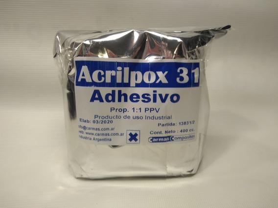 Adhesivo Metacrilato Para Fibra De Vidrio Y Carbono X 400 Gr