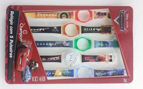 Relógio Disney Infantil Carros Dy28087c - 5 Pulseiras
