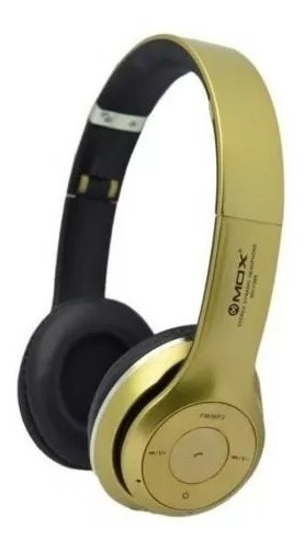 Fone Headphone Mox Mo-f899 Bluetooth/tf Card -dourado Barato
